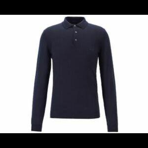 Hugo Boss dark blue sweater with collar